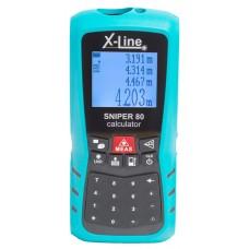 Дальномер лазерный X-Line Sniper 80 Calculator