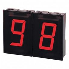 7-сегментные крупноформатные модули индикации (размер знака 31,99 (Ш) x 56,9 (В) мм) Серии D1SC